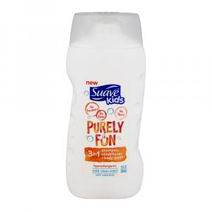 Suave Kids Shampoo + Conditioner + Body Wash 3in1 Purely Fun