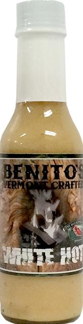 Benito's Vermont Crafted White Hot Sauce