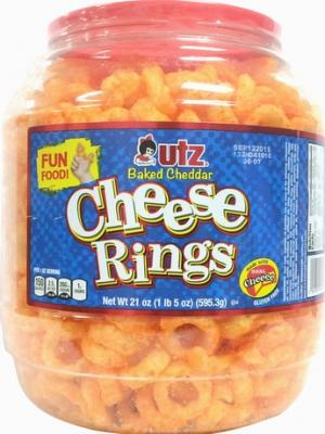 Utz Bakes Cheddar Cheese Rings