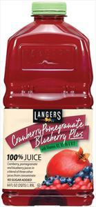 Langers Cranberry Pomegranate Blueberry Plus 100% Juice Blen