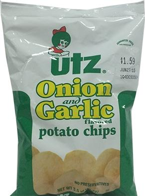 Utz Onion & Garlic Potato Chips