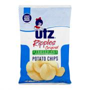 Utz Original Reduced Fat Ripple Potato Chips