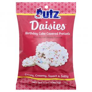 Utz Daisies Birthday Cake Covered Pretzels