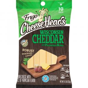 Frigo Cheese Heads Snacking Wisconsin Cheddar With Parmesan