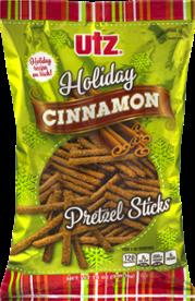 Utz Holiday Cinnamon Pretzel Sticks