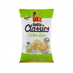 Utz Salted Lime Classic Kettle Chips