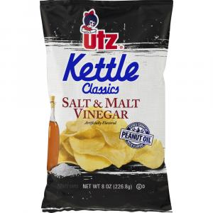Utz Salt & Malt Kettle Classics Potato Chips