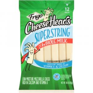 Frigo Cheese Heads Superstring Natural String Cheese