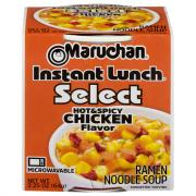 Maruchan Instant Lunch Select Hot & Spicy Chicken Soup Cup