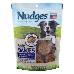 Nudges Soft Bake Dog Treats Chicken And Blueberries