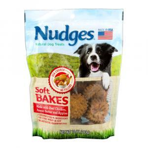 Nudges Soft Bake Dog Treats Chicken,peanut Butter & Apples
