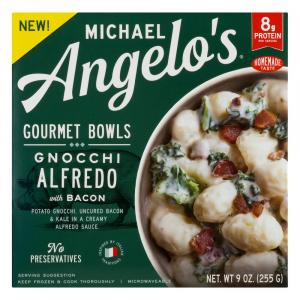 Michael Angelo's Gnocchi Alfredo with Bacon