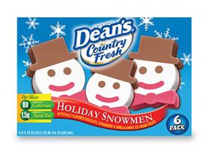 Dean's Country Fresh Ice Cream Holiday Snowmen