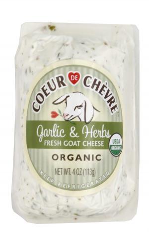 Coeur de Chevre Organic Garlic & Herb Goat Log