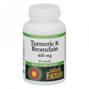 Natural Factors Turmeric & Bromelain