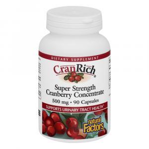 Natural Factors Cranrich Cranberry Concentrate 500 Mg