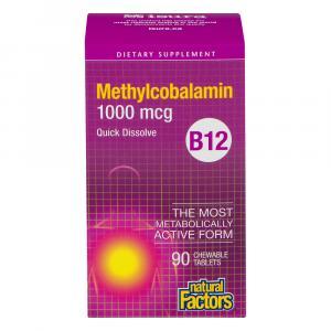 Natural Factors Vitamin B-12 (methycobalamin)