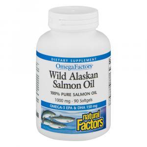 Natural Factors Wild Alaskan Salmon Oil 1000 Mg