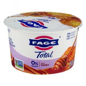 Fage Total 0% Yogurt W/honey
