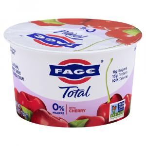 Total Fage Cherry 0% Greek Yogurt