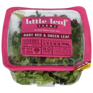 Little Leaf Farm Baby Red & Green Leaf Blend