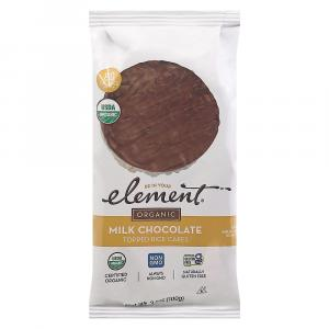 Element Organic Milk Chocolate Dipped Rice Cakes