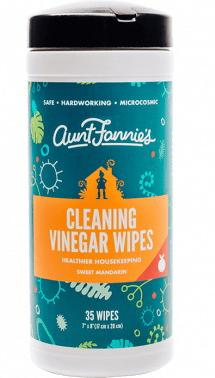 Aunt Fannie's Cleaning Vinegar Wipes Sweet Mandarin