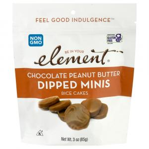Element Chocolate Peanut Butter Dipped Mini Rice Cakes
