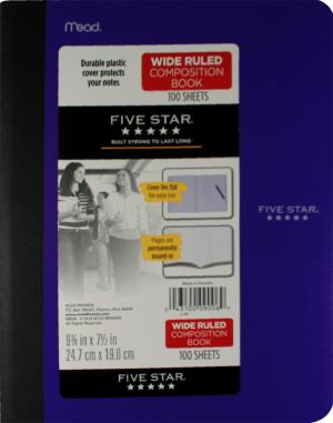 Mead Five Star Polly Cover Wide Ruled Composition Book