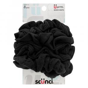 Scunci Mixed Texture Black Scrunchies