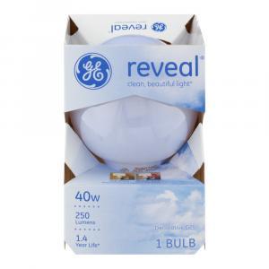 GE Reveal HD 40w Round Decorative Bulb