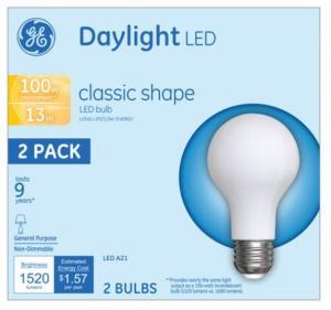 GE LED 13w Daylight Classic Shape Bulbs