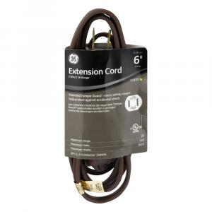 General Electric 6' Brown Extension Cord