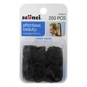 Scunci Black Rubber Hair Bands