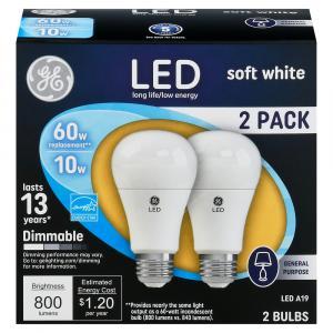 GE LED 10w Soft White General Purpose Bulb