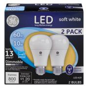 GE LED 10w (60w Equivalent) Soft White General Purpose Bulbs