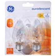 GE 40w Auradescent 1 Year Life Decorative Candle Bulbs