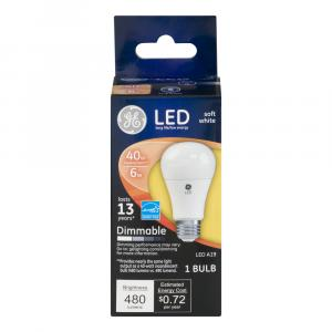 GE LED 6w Soft White Bulb