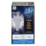 GE Reveal HD 50/100/150w 3 Way Bulb