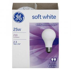 GE 25w Soft White General Purpose Bulbs