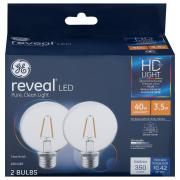 GE LED Reveal HD 4.5w (40w Equivalent) Bulbs