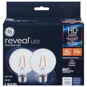 GE LED Reveal HD 4.5w Bulbs