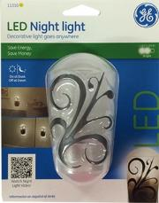LED Rounded Decor Auto On/Off White Plastic Night Light