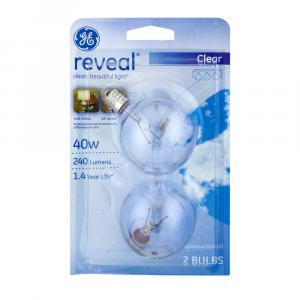 GE Reveal HD 40w Decorative Clear Round Bulbs