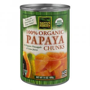 Native Forest Organic Papaya Chunks