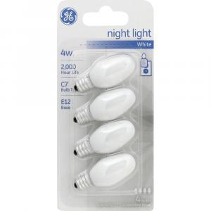GE 4w White Nightlight Bulbs