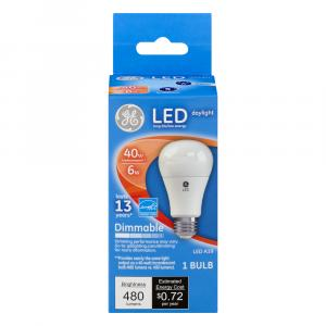 GE LED 6w (40w Replacement) Daylight Bulb
