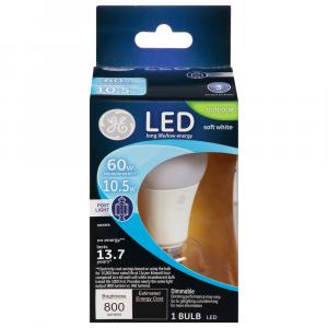 GE LED 10.5w (60w Replacement) Soft White Outdoor Post Bulb