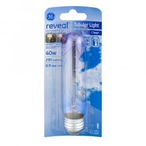 GE Reveal 40w Clear Tubular Bulb