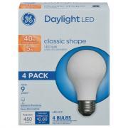 GE LED 5w Daylight Classic Shape Bulbs